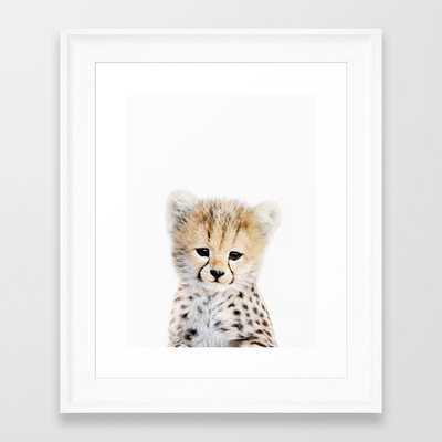 Baby Cheetah Portrait Framed Art Print - Society6