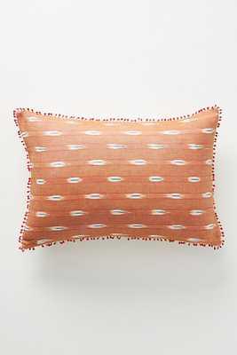 Ikat Pillow - rust - Anthropologie
