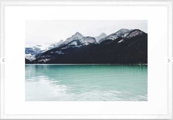 "Lake Louise Reflections Framed Art Print- 26"" X 38""- Vector White - Society6"