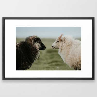 Sheeply in Love - Animal Photography from Iceland Framed Art Print - Society6