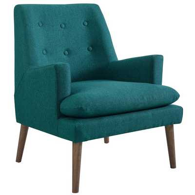 LEISURE UPHOLSTERED LOUNGE CHAIR IN TEAL - Modway Furniture
