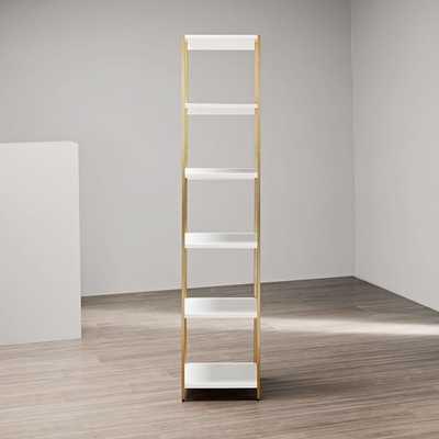 Zane Narrow Bookshelf - White - West Elm