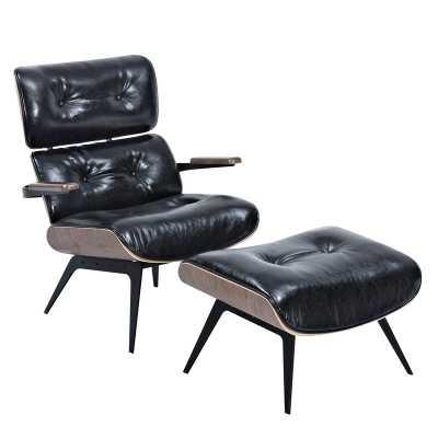 Eama Lounge Chair with Ottoman - Wayfair