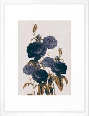 blue flowers Framed Art Print - Society6