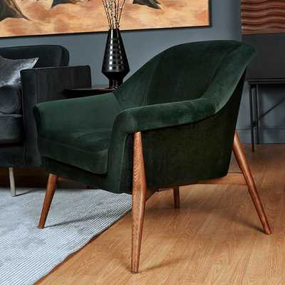 TAITUM ACCENT CHAIR, EMERALD GREEN - Lulu and Georgia