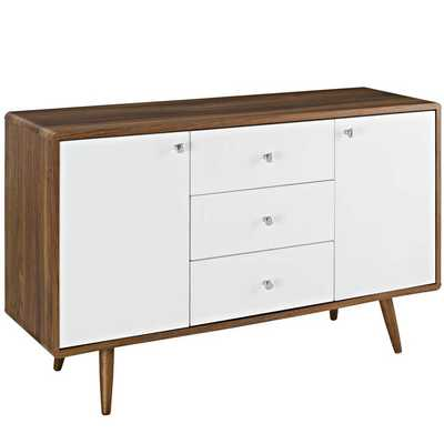 TRANSMIT SIDEBOARD IN WALNUT WHITE - Modway Furniture