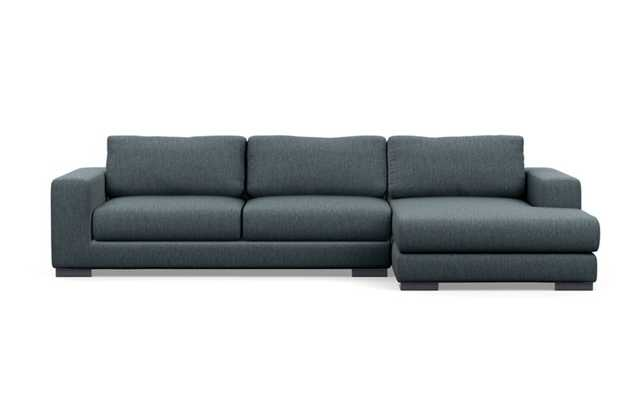"""Henry Sectional Sofa with Right Chaise - 110"""" - Rain - Interior Define"""