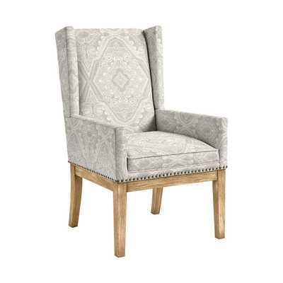 Ballard Designs Marlene Dining Chair with Brass Nailheads (Henderson Pearl) - Ballard Designs