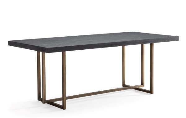 Madelyn Rustic Elm TableMASON BLACK TABLE - Maren Home