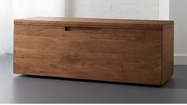 Acacia Storage Bench - CB2