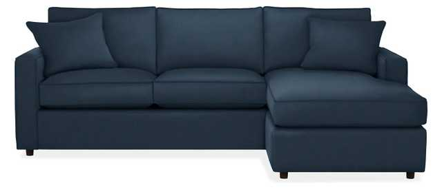 """York Sectional - 98"""" Sofa With Reversible Chaise-Dawson ink (plain-weave) - Room & Board"""