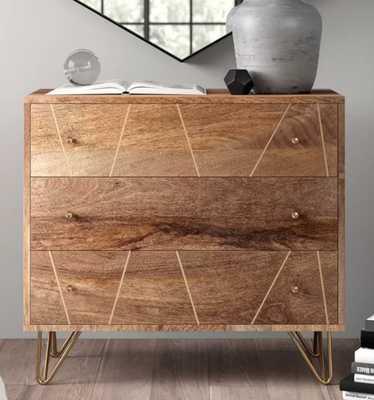 Marigold 3 Drawer Dresser - Wayfair