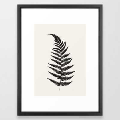 Minimal Fern Leaf Framed Art Print - Society6