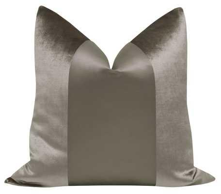 "PANEL Monochromatic :: Faux Silk Velvet // Quartz - 20""x20"" - Little Design Company"