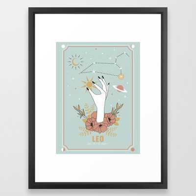 Leo Zodiac Series Framed Art Print - Society6