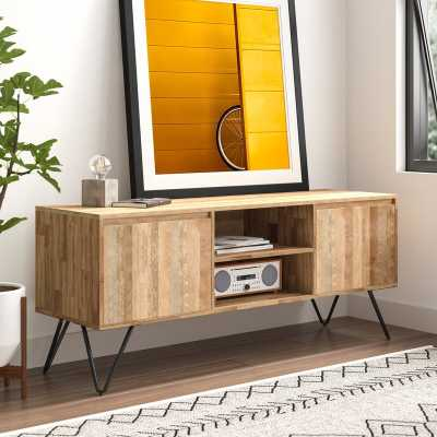 Maleah Solid Wood TV Stand for TVs up to 65 inches - Natural - AllModern