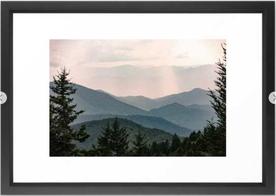 Smoky Mountain Pastel Sunset Framed Art Print - Society6