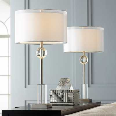 Vincent Brushed Nickel Console Table Lamps Set of 2 - Style # 66E10 - Lamps Plus