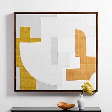 Pieced Fabric Wall Art, Yellow - West Elm