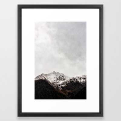 Scenic Mountain Photograph Grunge Weathered Look Framed Art Print - Society6