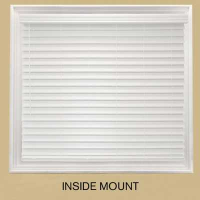 Home Decorators Collection White Cordless 2-1/2 in. Premium Faux Wood Blind - 36 in. W x 64 in. L (Actual Size - 35.5 in. W x 64 L) - Home Depot