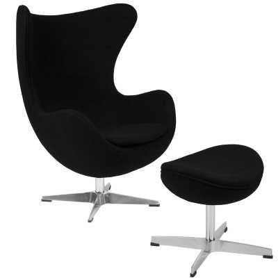 Brennen Swivel Lounge Chair and Ottoman - Wayfair