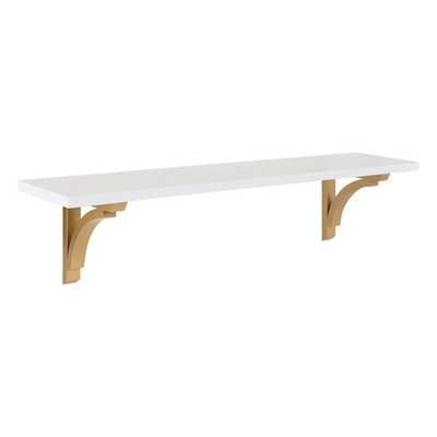 Hornyak Traditional Wood Wall Shelf gold size 2 - AllModern
