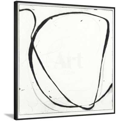 Big Swirl 1 - No Matte, Black Frame, Anti-Glass Acrylic - art.com