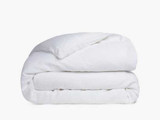 Linen Duvet Cover, Twin, White - Parachute