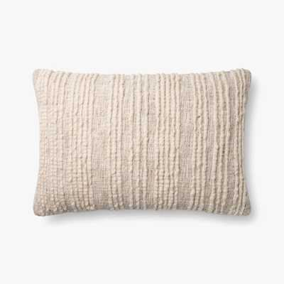 """Loloi PILLOWS P0862 Natural 16"""" x 26"""" Cover w/Poly - Loma Threads"""