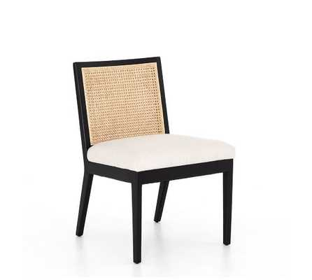 Lisbon Cane Dining Chair, Brushed Ebony - Pottery Barn