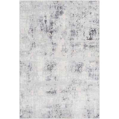 Heger Distressed Gray/White Area Rug - Wayfair