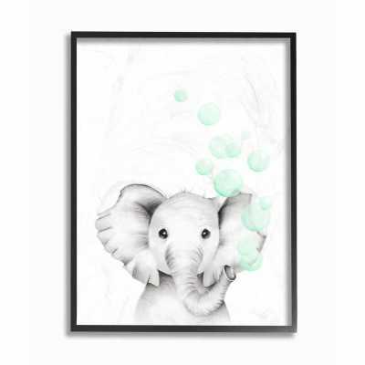 Segal Cute Cartoon Baby Elephant Painting Kids Wall Décor - Wayfair