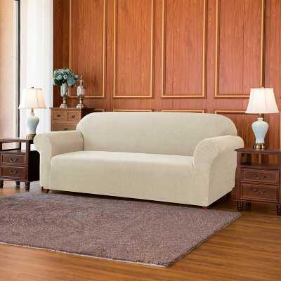 Jacquard Spandex Stretch Box Cushion Loveseat Slipcover - Wayfair