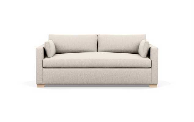 """83"""" Charly Sofa in Wheat Fabric with natural oak legs, deep seat - Interior Define"""