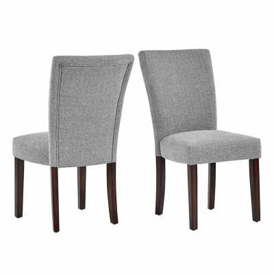 Lancaster Upholstered Dining Chair / Cherry/Light Grey - Wayfair
