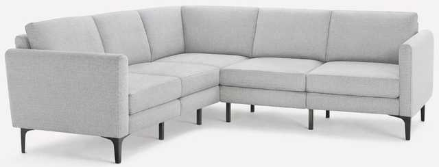 The Arch Nomad 5-Seat Corner Sectional in Crushed Gravel - Burrow