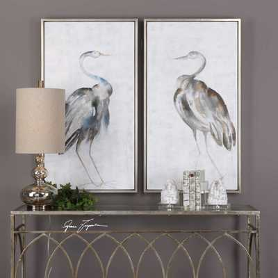 SUMMER BIRDS HAND PAINTED CANVASES, S/2 - Hudsonhill Foundry