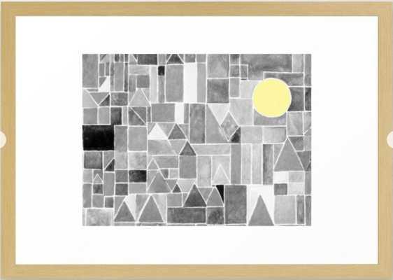 Moon Framed Art Print - Society6