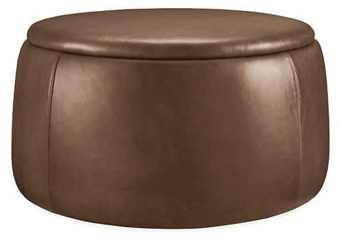 Dodd Leather Storage Ottomans - Room & Board