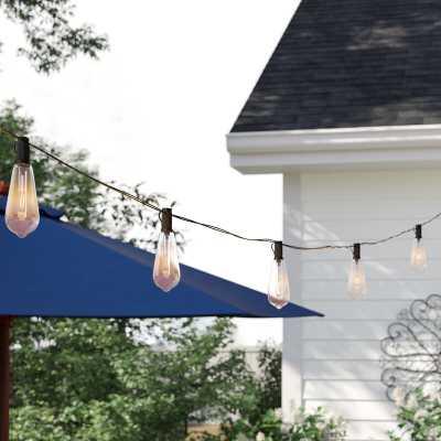 Alessia 14.5' Outdoor LED Solar Powered 10 - Bulb Standard String Light - Wayfair