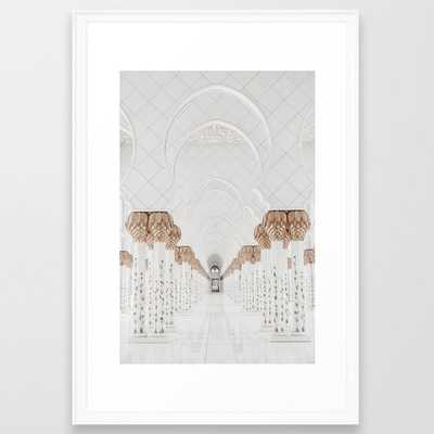 Grand Mosque Abu Dhabi Framed Art Print - Society6