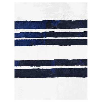 Navy Stripe Abstract Art - Ballard Designs