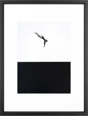 """Dive 20"""" x 26"""" Art Print with Vector Black Frame - Society6"""