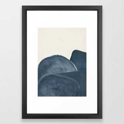 Blue Landscape Framed Art Print - Society6