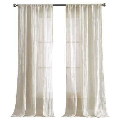 French Connection Charter Crushed Window Solid Semi-Sheer Curtain Panels (Set of 2) - Wayfair