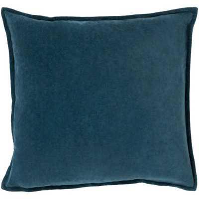 Bradford Smooth 100% Cotton Throw Pillow, Teal, 18 x 18 - Wayfair