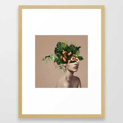 Lady Flowers llll Framed Art Print - Society6