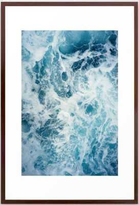 Rough Sea - Ocean Photography Framed Art Print - Society6