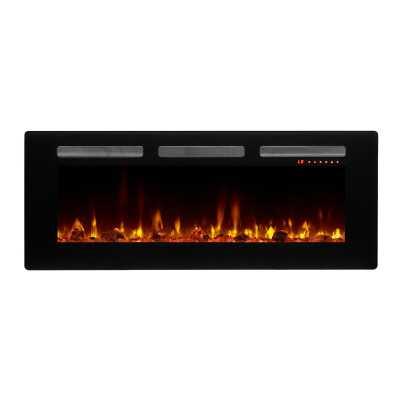 "Odis Wall Mounted Electric Fireplace - 72"" - Wayfair"